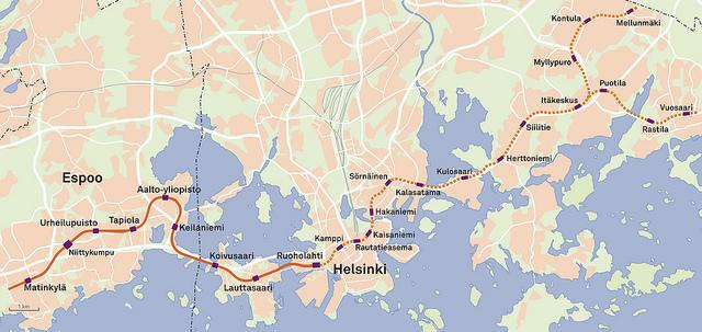 Länsimetro Kartta